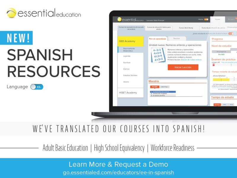 Essential Ed's New Spanish Resources Advertisement